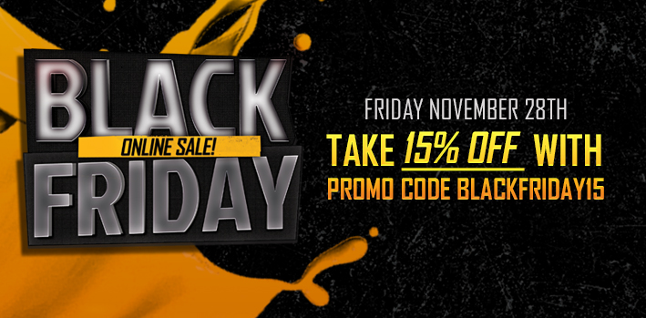Black Friday Sale! Save 15% Off Everything!