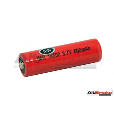 AW IMR 14500 600mAh LiMN Rechargeable Lithium Battery