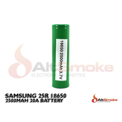 Samsung INR 18650 25R 2500mAh Battery - Flat Top