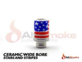 Ceramic Wide Bore Drip Tip - Stars and Stripes