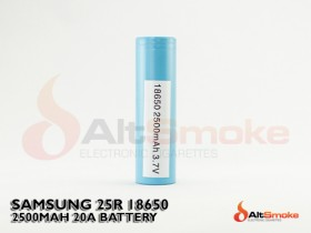 Samsung INR 18650 25R 2500mAh Battery - Flat Top
