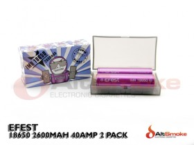 Efest - IMR 18650 2600mAh 40A Twin Pack
