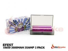 Efest IMR 18650 3000mAh 35A Twin Pack